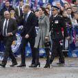 Le prince William, duc de Cambridge, et Kate Catherine Middleton, duchesse de Cambridge, lors de l'hommage rendu aux victimes de l'accident d'hélicoptère survenu dans le stade de football de Leicester. Le 28 novembre 2018