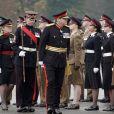 La princesse Salma de Jordanie, en uniforme, le 24 novembre 2018 à l'académie militaire royale de Sandhurst en Angleterre lors de la parade de la cérémonie de fin de formation.