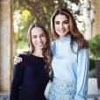 La reine Rania de Jordanie avec sa fille la princesse Salma le 22 mai 2018, jour de sa remise de diplôme à l'IAA. Photo Instagram Rania de Jordanie.