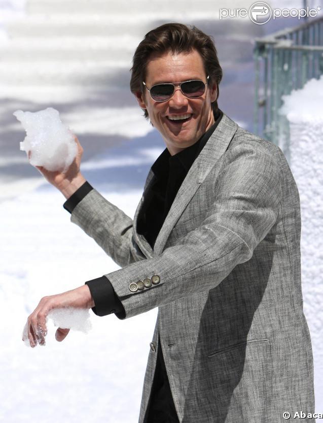 Jim Carrey lors du photocall un peu particulier de Christmas Carol (Le drôle Noël de Scrooge) à Cannes, le 18 mai 2009