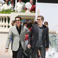 Jim Carrey et Colin Firth lors du photocall un peu particulier de Christmas Carol (Le drôle Noël de Scrooge) à Cannes, le 18 mai 2009