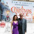 Robert Zemeckis et sa femme lors du photocall un peu particulier de Christmas Carol (Le drôle Noël de Scrooge) à Cannes, le 18 mai 2009