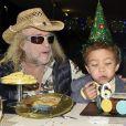 Exclusif - Michel Polnareff fête le 6e anniversaire de son fils Louka avec sa compagne Danyellah au Domaine de Verchant à Castelnau-le-Lez près de Montpellier le 28 décembre 2016.© Romain Canot / Bestimage