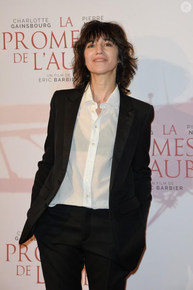 """Charlotte Gainsbourg - Avant-première du film """"La Promesse de l'aube"""" d'Eric Barbier au cinéma Gaumont-Opéra à Paris, France, le 12 décembre 2017. © Coadic Guirec/Bestimage"""