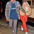 Exclusif - Travis Scott sort de son concert accompagné de sa fiancée Kylie Jenner à Madison Square Garden à New York, le 27 novembre 2018