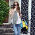 Lindsay Lohan sort de chez Samantha Ronson après y avoir passé la nuit le 18 mai 2009