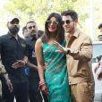 Nick Jonas et sa femme Priyanka Chopra arrivent à l'aéroport de Jodhpur après leur mariage au palais Umaid Bhawan. Jodhpur, Inde, le 3 décembre 2018.