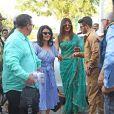 Les parents de Nick Jonas, Paul Kevin Jonas, Sr. et Denise Miller-Jonas, Priyanka Chopra et son mari Nick Jonas arrivent à l'aéroport de Jodhpur, le 3 décembre 2018.