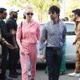 Joe Jonas et sa fiancée Sophie Turner arrivent à l'aéroport de Jodhpur, le 3 décembre 2018.
