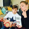 Sandrine Corman et son fils Oscar le 8 décembre 2018.