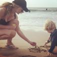 Sandrine Corman et son fils cadet Harold le 27 octobre 2018.