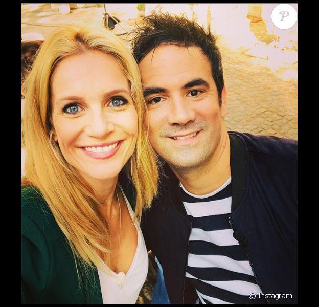 Sandrine Corman et Alex Goude, le 9 octobre 2018 lors de retrouvailles.
