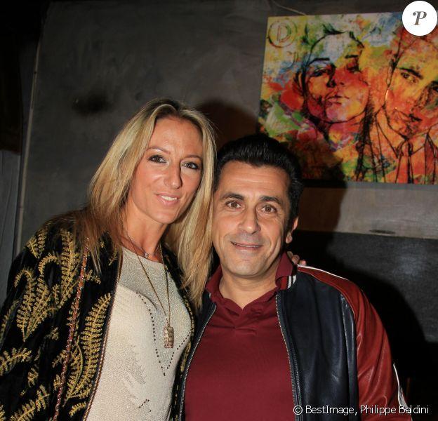 Exclusif - Albert Kassabi (Bebert des Forbans) et sa compagne Astrid - Soirée d'ouverture du restaurant Dudas's à Paris le 8 novembre 2018. © Philippe Baldini/Bestimage