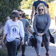 Exclusif - Kate Hudson, Jennifer Meyer et Sara Foster vont faire leur jogging ensemble à Los Angeles, le 24 novembre 2018.