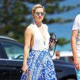 Kate Hudson et son compagnon Danny Fujikawa déjeunent à Bondi, Ausralie puis font du shopping le 18 février 2018.
