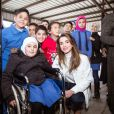 Queen Rania during a visit to Wadi Al Naqa village, Al Balqa Photo: Royal Hashemite Court/ Albert Nieboer / Netherlands OUT / Point de Vue OUT17/12/2018 - Al Balqa