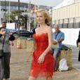 Eva Herzigova à Cannes hier après-midi