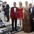 Eva Herzigova, Natasha Poly et Dolce & Gabbana à Cannes hier après-midi