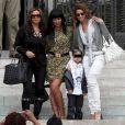 Beyoncé Knowles, sa soeur, son neveu et sa mère sont au Grand Palais à Paris