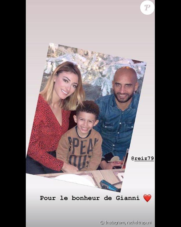 Rachel Legrain-Trapani a retrouvé son ex-mari Aurélie Capoue pour les 5 ans de leur fils Gianni. Instagram, le 23 décembre 2018.