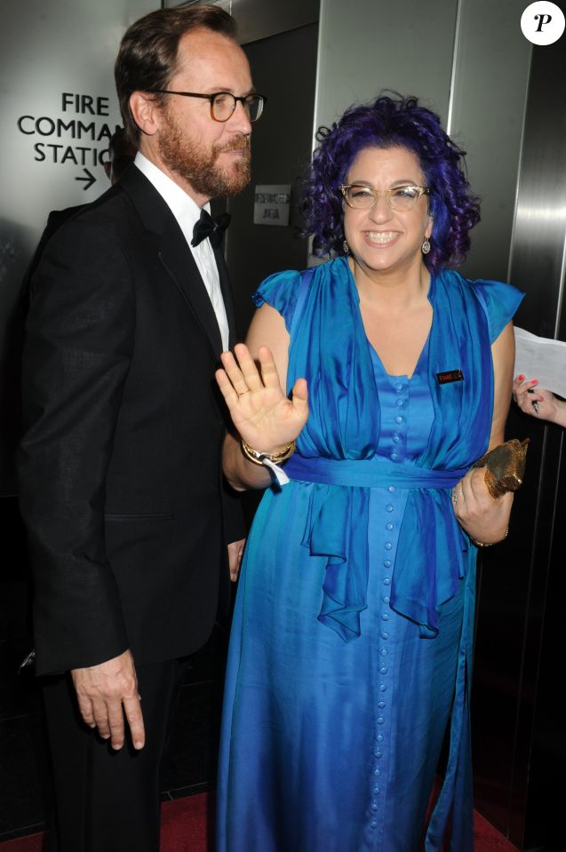 Jenji Kohan, créatrice des séries Weeds et Orange Is the New Black, avec son mari Christopher Noxon au gala des 100 personnalités les plus influentes 2015 de Time Magazine, à New York.