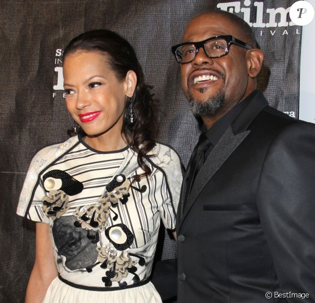 "Forest Whitaker et sa femme Keisha - People a la soiree des 8eme ""Kirk Douglas Award for Excellence In Film"" a l'hotel Bacara Resort and Spa a Santa Barbara. Le 5 janvier 2014"