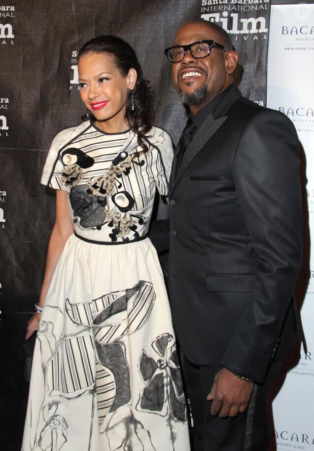 "Forest Whitaker et sa femme Keisha - People a la soiree des 8eme ""Kirk Douglas Award for Excellence In Film"" a l'hotel Bacara Resort and Spa a Santa Barbara. Le 5 janvier 2014"