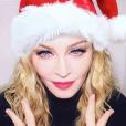Madonna prête pour Noël, décembre 2018.