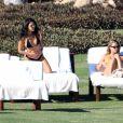 Exclusif - Scott Disick, Kourtney Kardashian et Sofia Richie en vacances à Cancun au Mexique le 23 décembre 2018.