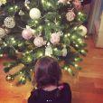 L'adorable fille de Laurence Boccolini, Willow, a décoré le sapin de Noël.