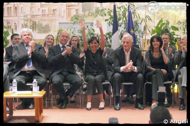 Avec Michel Barnier, tête de liste UMP en Ile-de-France pour les européennes, Rachida Dati s'est exprimée lors d'une réunion départementale en Seine-Saint-Denis