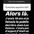 """Charlotte Namura raconte en story sur Instagram, le 6 janvier 2019, son parcours avant de devenir journaliste sportive dans """"Téléfoot"""" sur TF1."""