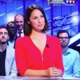 Charlotte Namura sur le plateau du Mag du Mondial sur TF1 -Instagram, juillet 2018