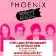 Phoenix donnera un concert privé au Studio SFR le 3 juin 2009