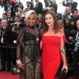 "Mary J. Blige et la princesse Isabella Orsini - Montée des marches du film ""The Meyerowitz Stories"" lors du 70ème Festival International du Film de Cannes. Le 21 mai 2017. © Borde-Jacovides-Moreau / Bestimage"