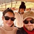 Caleb Followill, Lily Aldridge et leur fille Dixie. Juin 2018.