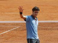 Roger Federer remporte son match devant les yeux de sa femme... enceinte et ravie !