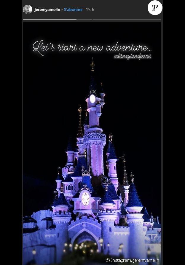 Jérémy Amelin a partagé cette photo en story Instagram, le 20 janvier 2019. Il rejoint les rangs de Disneyland Paris.