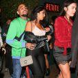 Chris Brown est allé faire la fête avec une jolie inconnue chez Poppy à West Hollywood, le 5 avril 2018