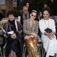 """Géraldine Chaplin, Kristen Stewart et Tessa Thompson - Deuxième défilé de mode Haute-Couture printemps-été 2019 """"Chanel"""" au Grand Palais à Paris. Le 22 janvier 2019 © Olivier Borde / Bestimage"""