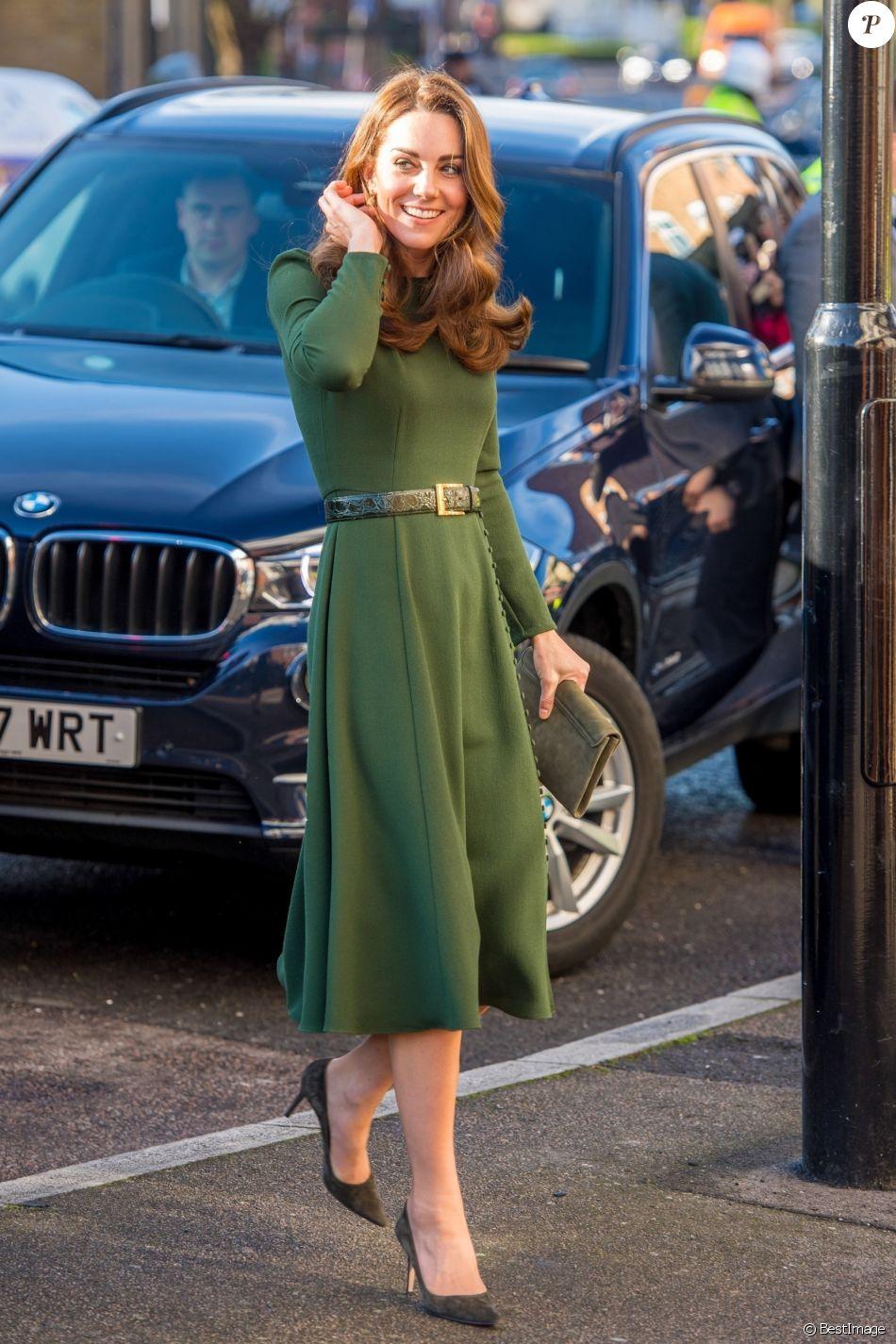 """Catherine Kate Middleton, duchesse de Cambridge, arrive en visite chez """"Family Action charity's Lewisham"""" à Londres dans le quartier de Lewisham le 22 janvier 2019."""