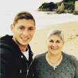 Emiliano Sala et sa mère Mercedes, photo Instagram octobre 2017
