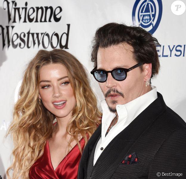"Johnny Depp et Amber Heard - 9e gala annuel ""The Art Of Elysium"" à Culver City le 9 janvier 2016."