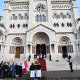 Le prince Albert II de Monaco et la princesse Charlene ont assisté à la messe pontificale pour les célébrations de Sainte Dévote à Monaco le 26 janvier 2019. ©Bruno Bebert/Bestimage