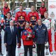 Le prince Albert II de Monaco a remis le trophée du Rallye de Monte-Carlo, remporté le 27 janvier 2019 par Sébastien Ogier et Julien Ingrassia sur Citroën. ©Jean-Charles Vinaj/Pool Monaco/Bestimage