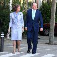 Le Roi Juan Carlos et la Reine Sofia à la communion de Victoria Federica, fille de la Princesse Elena d'Espagne à Madrid