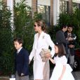 L'Infante Elena d'Espagne, sa fille Victoria Federica et son fils Felipe