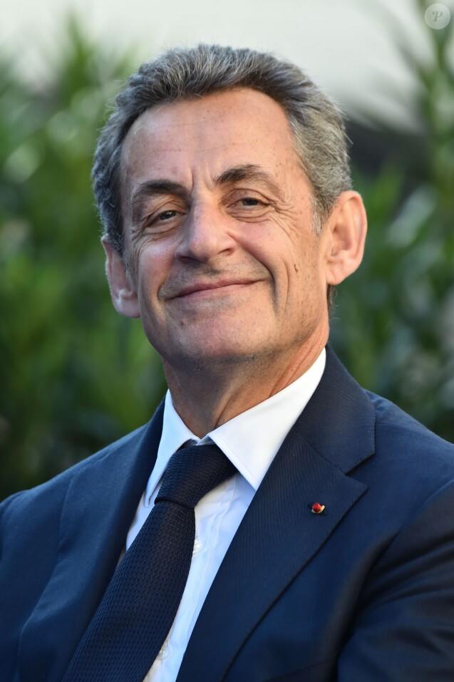 Nicolas Sarkozy, l'ancien président de la république française, durant l'inauguration des allées Philippe Séguin et Charles Pasqua à Nice le 16 novembre 2018. © Bruno Bebert / Bestimage