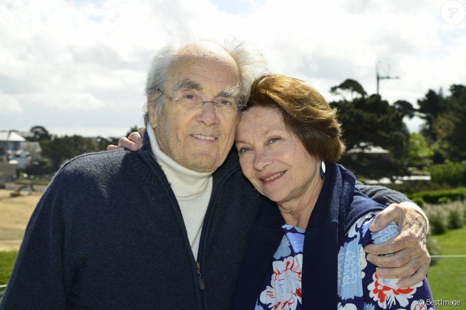 Exclusif - Rendez-vous avec Macha Méril et son mari Michel Legrand en thalassothérapie au centre Thalassa à Dinard. Le 28 avril 2015.