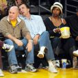David Arquette et Denzel Washington lors du match opposant les Lakers au Denver Nuggets à Los Angeles le 27 mai 2009